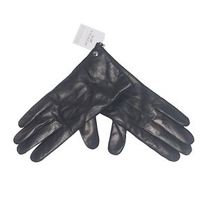 NWT Authentic COACH Leather Gloves, Black